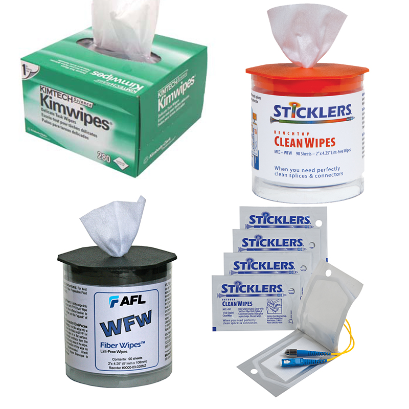 Image of Lint-Free Dry Fiber Optic Wipes