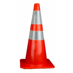 """Image of 28""""  7LB. TRAFFIC CONE WITH 6"""" & 4"""" COLLARS (small)"""
