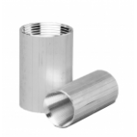 "2"" TAPERED REVERSE THREADED ALUMINUM COUPLER (2.23-2.48) thumbnail"