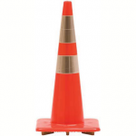 """Image of 28"""" SAFETY CONE TRIMLINE STANDARD 7 LB. W/ REFLECTIVE COLLARS (small)"""