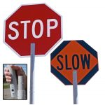 "24"" HI REFLECTIVE FLAGGER-HELPER STOP/SLOW PADDLE"