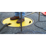 "28"" SAFE-T LID TEMPORARY MANHOLE COVER YELLOW thumbnail"