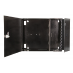 2 Plate Wall Mount Panel Empty Chassis Black 2-Door