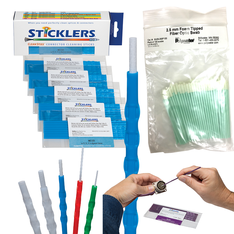 Fiber Optic Swabs and Sticks